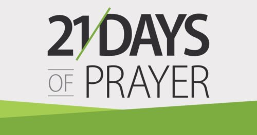 21 Days of Prayer –  9.3.17